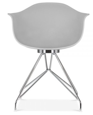 Memot Chair With A Grey Shell Front View