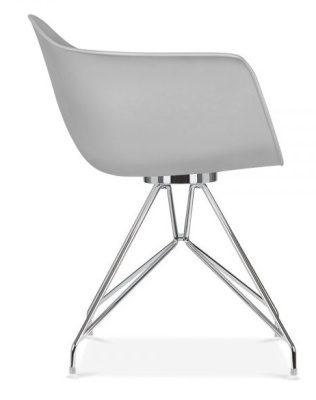 Memot Chair With A Grey Shell Side View