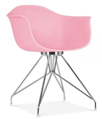 Memot Chair Pastel Pink Front Angle