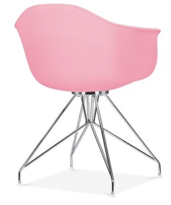 Memot Chair With A Pink Shall Rear Angle