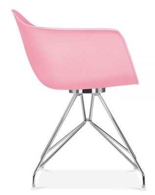 Memot Chair With A Pink Shell Side View