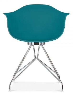 Memot Chair With A Teal Shell Front View