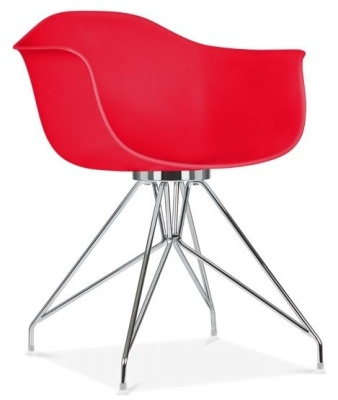 Memot Chair With A Red Shell Front Angle View