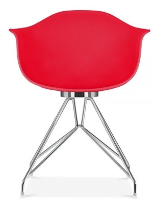 Memot Chair With A Red Shell Front View