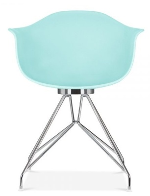 Memot Chair With Apastel Blue Shell Front View