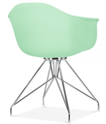 Memot Chair With A Pastel Green Shell Rear Angle