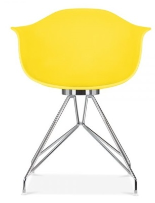 Mwmo Chair In Yellow Front View