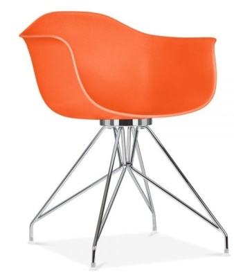 Memot Chair In Orange Front Angle