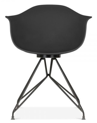 Mamot Chair Black Frame And Black Shell Front Shot
