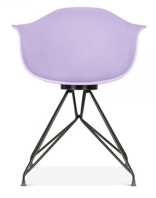 Mdemot Chair With A Lavender Shell And Black Frame Rearview