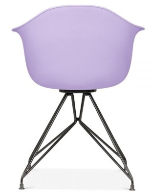 Memot Chair With A Lavender Shell And Black Frame Rear View