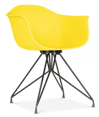 Memot Chair With A Yellow Chair And Black Frame