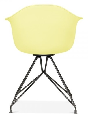 Memot Chair With A Lemon Shell And Black Frame Rear View