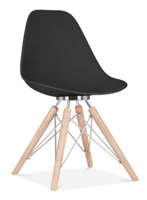 Antona Designer Chair Black Chair Front Angle