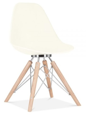 Antona Chair Off White Shell Front Angle