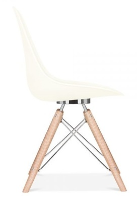 Acona Designer Chair Off White Shell Side View