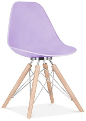 Acona Chair With A Lavender Shell Front Angle