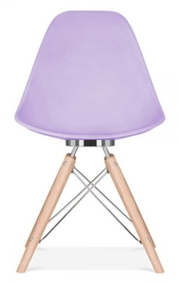 Acona Chair With A Lavender Shell Front View