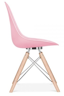 Acona Designer Chair Pink Shell Side View