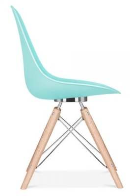 Acona Chair Pastel Blue Side View