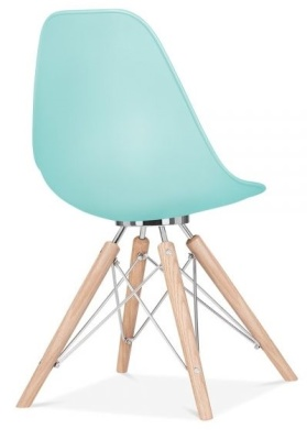 Acona Chair Pastel Blue Rear Angle