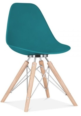 Acona Chair Front Angle Teal