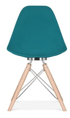 Acona Chair Teal Shell Front View