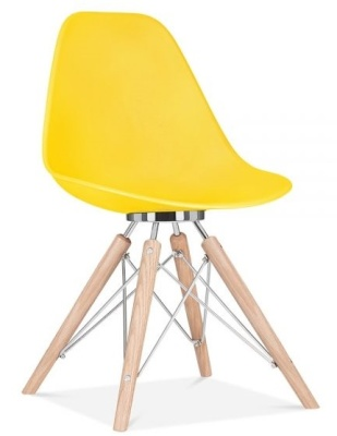 Acona Chair Yellow Front Angle