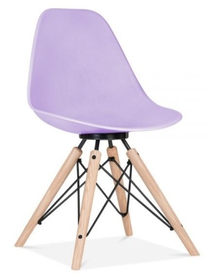 Antona Chair In Lavender With A Black Frame Front Angle