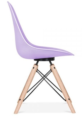 Antona Chair In Lavender With A Black Frame Side View