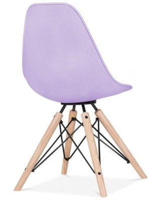 Antona Chair In Lavender With A Black Frame Rear Angle