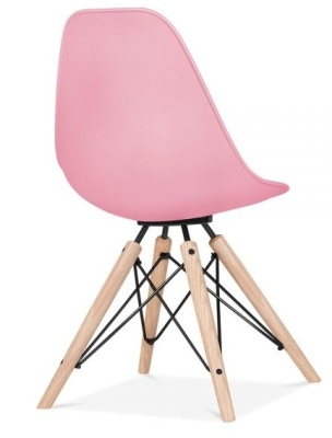 Ancona Chair In Pink With A Black Frame Rear Angle