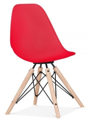 Antona Chair In Red Rear Angle View