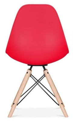 Antona Chair In Red With A Black Frame Rear View