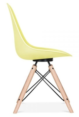 Antona Chair Lemon Shell And Black Frame Side View