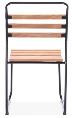 Bauhaus Chair Black Frame Rear View