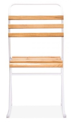 Bauhaus Slat Chair White Frame Front Shot