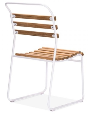 Bauhaus Chair White Frame Rear Angle