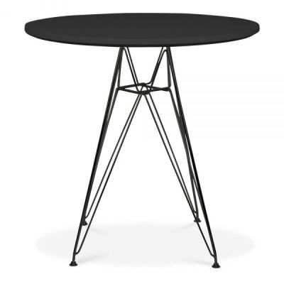Eames Dsr Table With A Black Frame 2