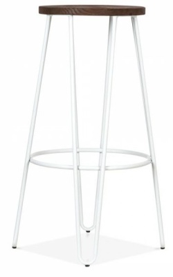 Hairpin Stool With A White Frame 3