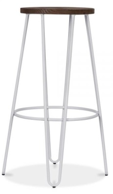 Hairpin Stool With A Grey Metal Frame 3