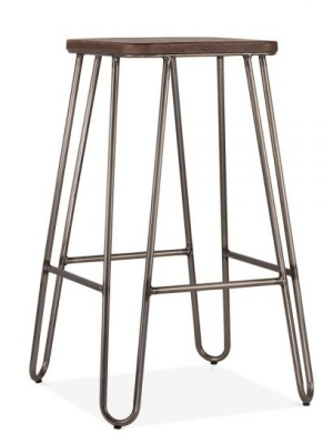Hairpin Stool With A Square Seat 1