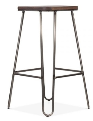 Hairpin Stool With A Square Seat 3