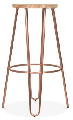 Hairoin Stool With A Vintage Copper Frame 3