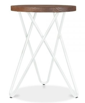 Hairpin Cross Style Low Stool With A White Frame 2