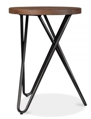 Hairpin Cross Style Low Stool With A Blackl Frame 3