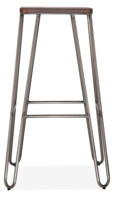 Hairpin Stool Wit A Square Seat B
