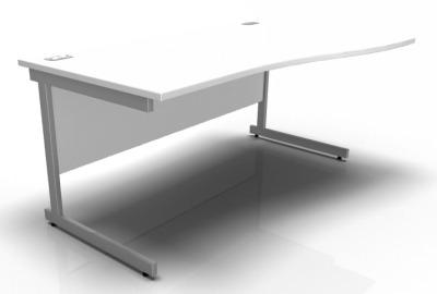 Stellar Right Hand Wave Desk In White