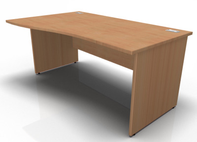 Stellar Right Hand Wave Desk Wit A Panel End