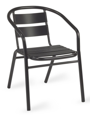 Pandora Outdoor Aluminium Armchair In Black